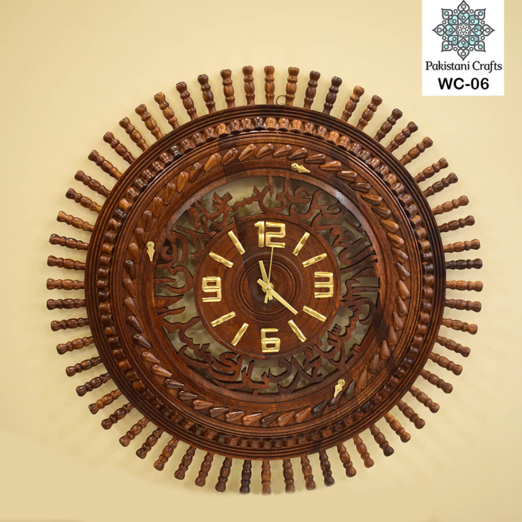 Darood e Ibrahimi, Wall Clock, Wooden, Wooden Wall Clock,Wooden Wall Clock Darood e Ibrahimi,