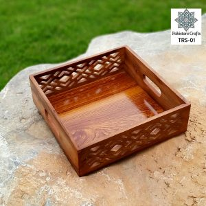 Wooden Tray Set with Handle