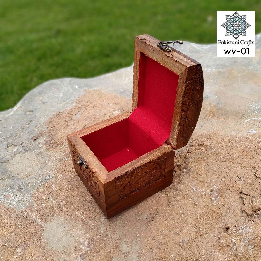 Wooden Watch Box Beautify with Carving Art - WV-01