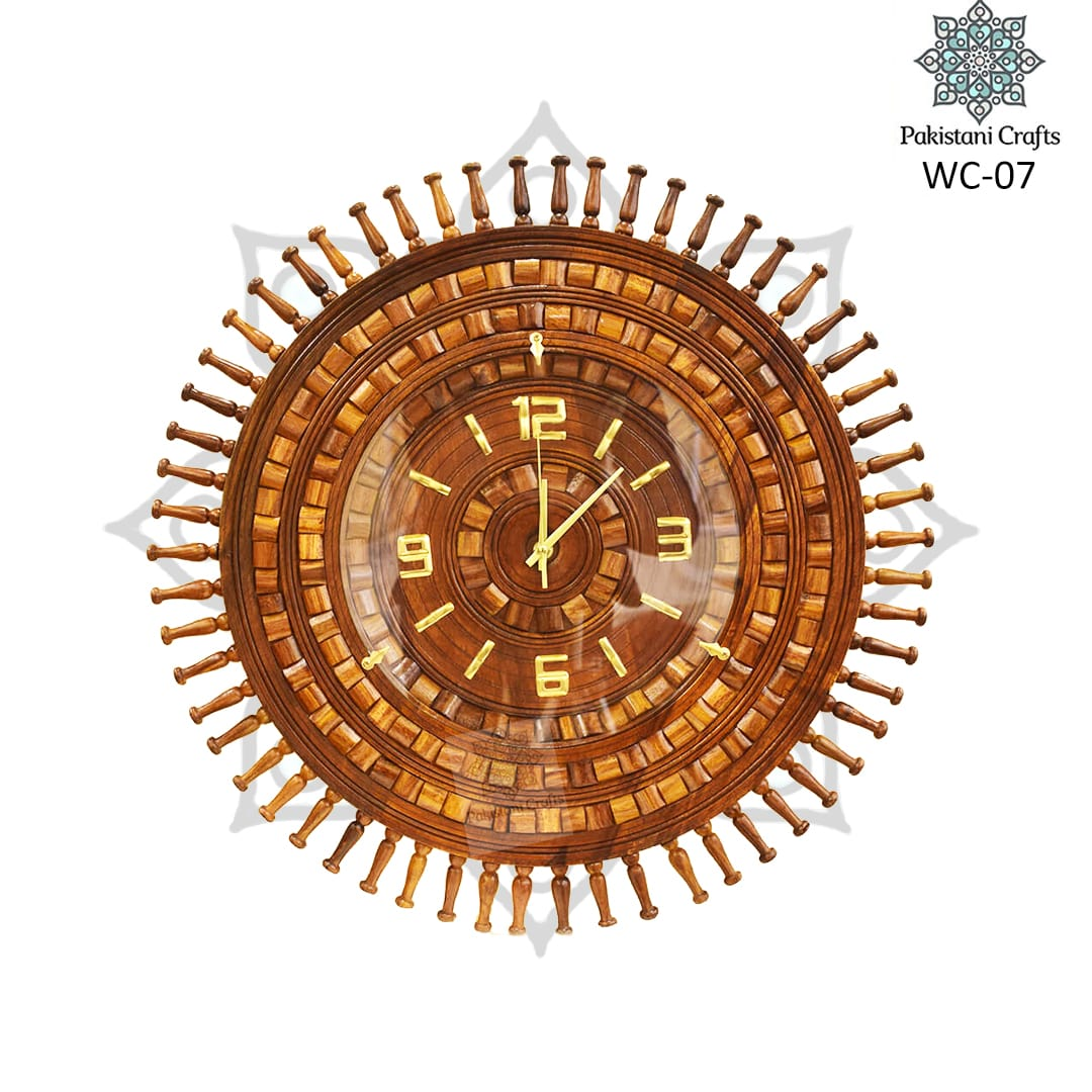 Wooden Wall Clock WC-07
