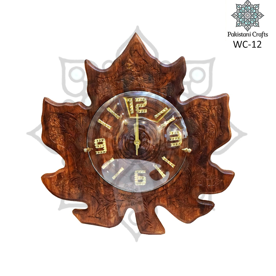 Leaf Carving Clock WC-12