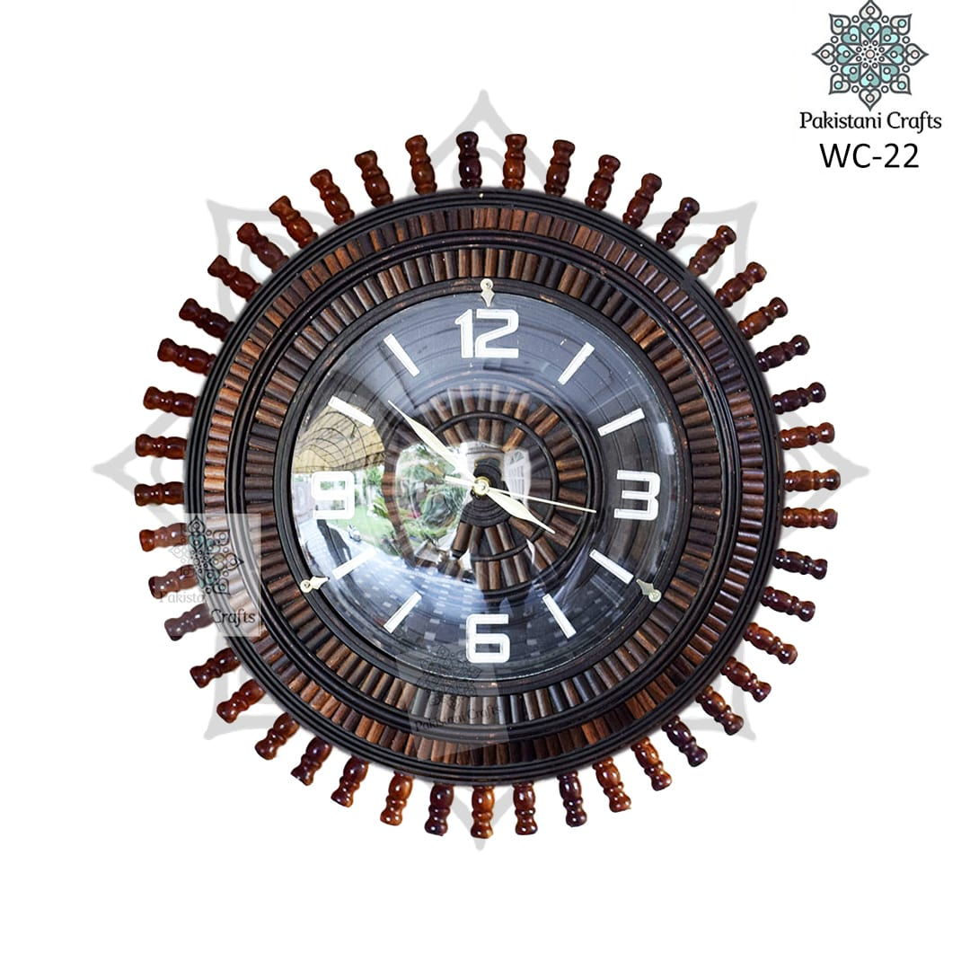 Wooden Wall Clock Flower Style WC-22