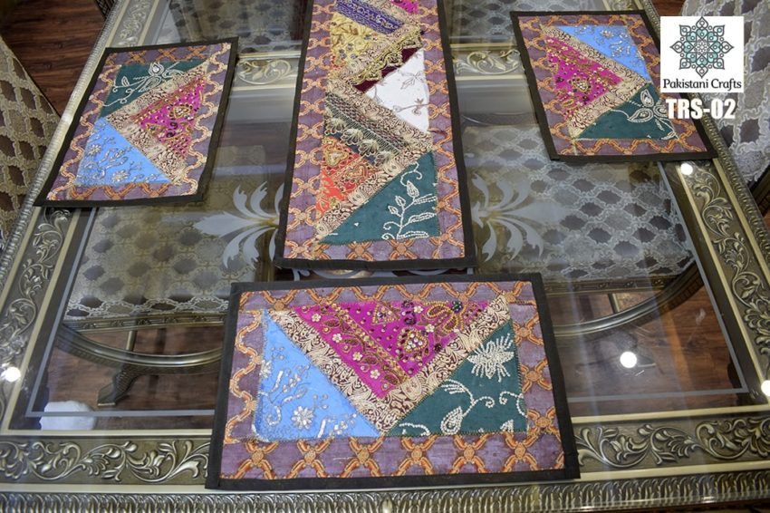 Sindhi Embroidery Table Runner Set