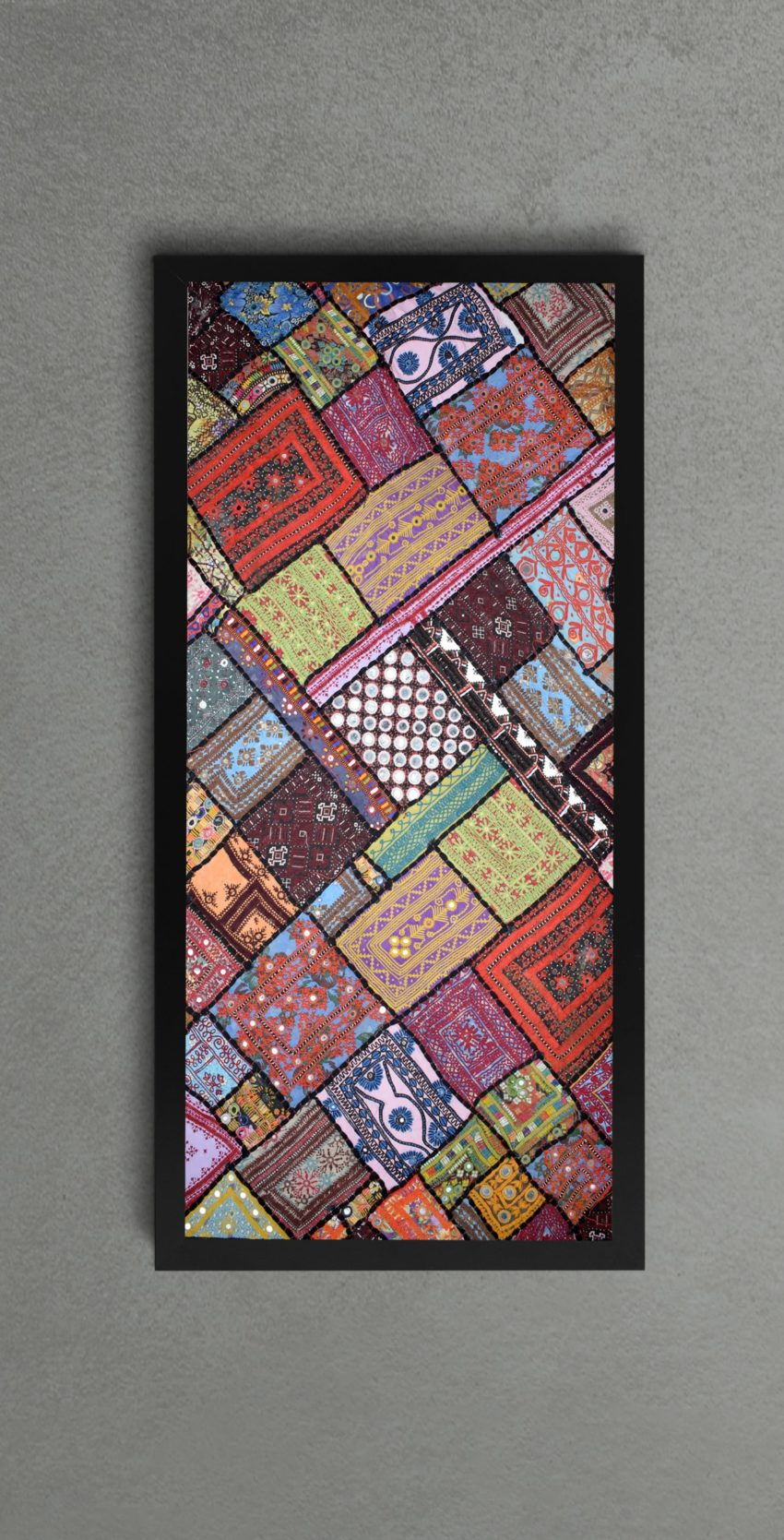 Wall Decor with Sindhi Patch Work