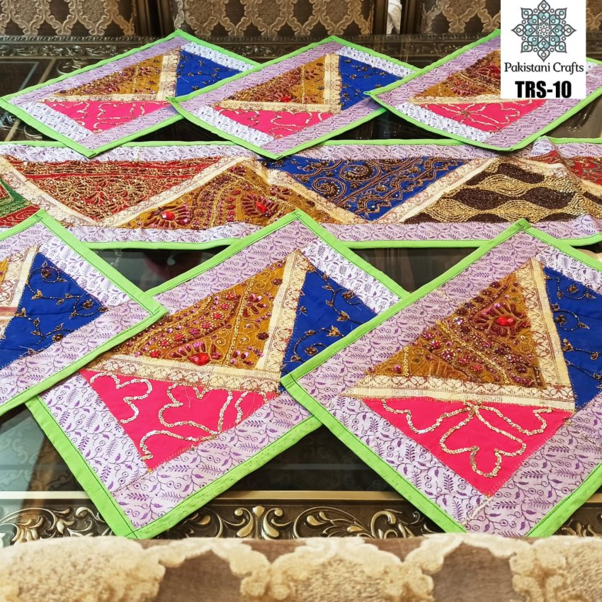Sindhi Hand Embroidery Runner and Place Mat Set TRS-10