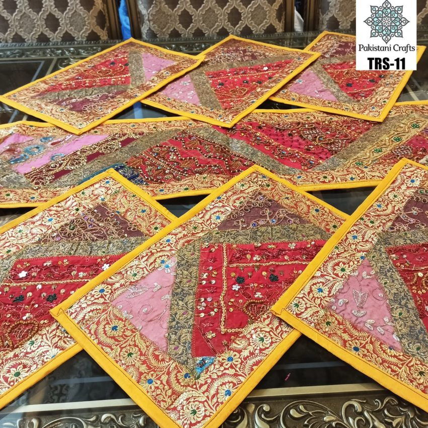Sindhi Hand Embroidery Runner and Place Mat Set TRS-11
