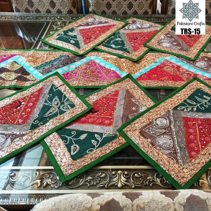 Sindhi Hand Embroidery Runner and Place Mat Set TRS-15