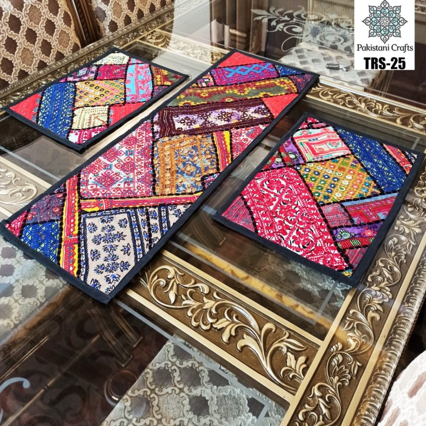 Sindhi Hand Embroidery Runner and Place Mat Set TRS-25