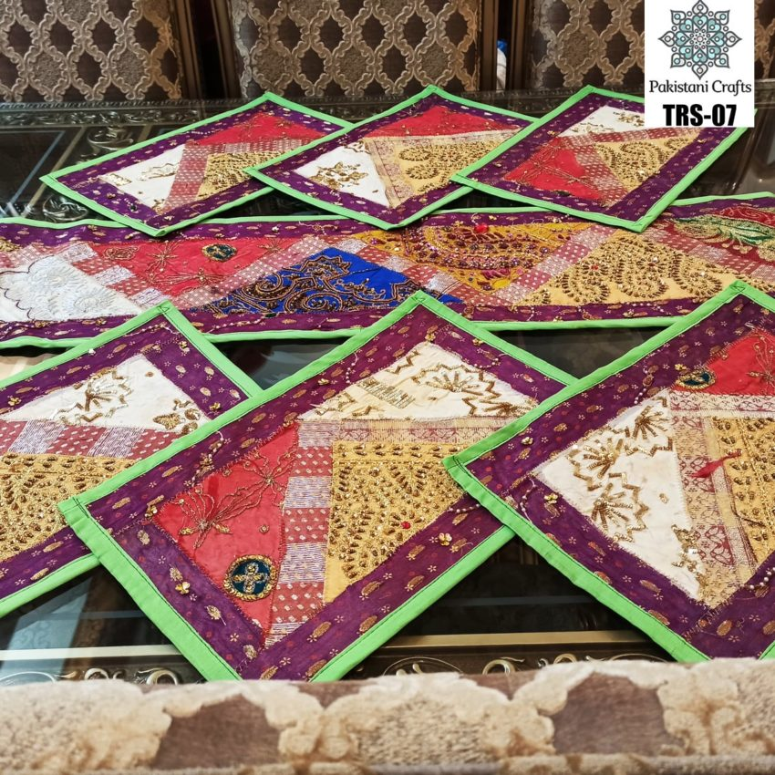 Sindhi Hand Embroidery Runner and Place Mat Set TRS-07