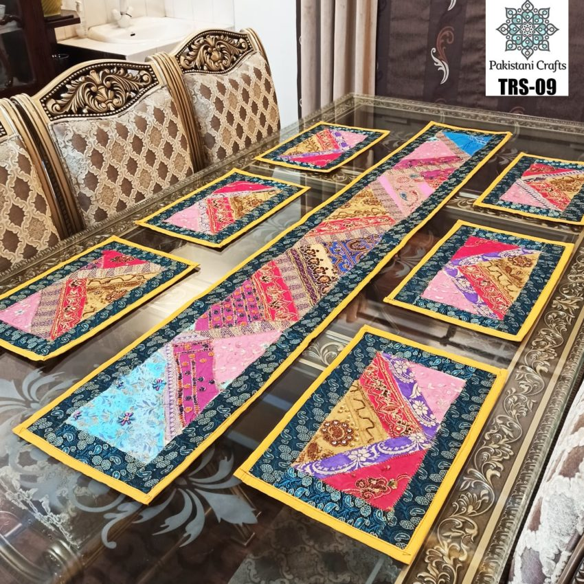 Sindhi Hand Embroidery Runner and Place Mat Set TRS-09