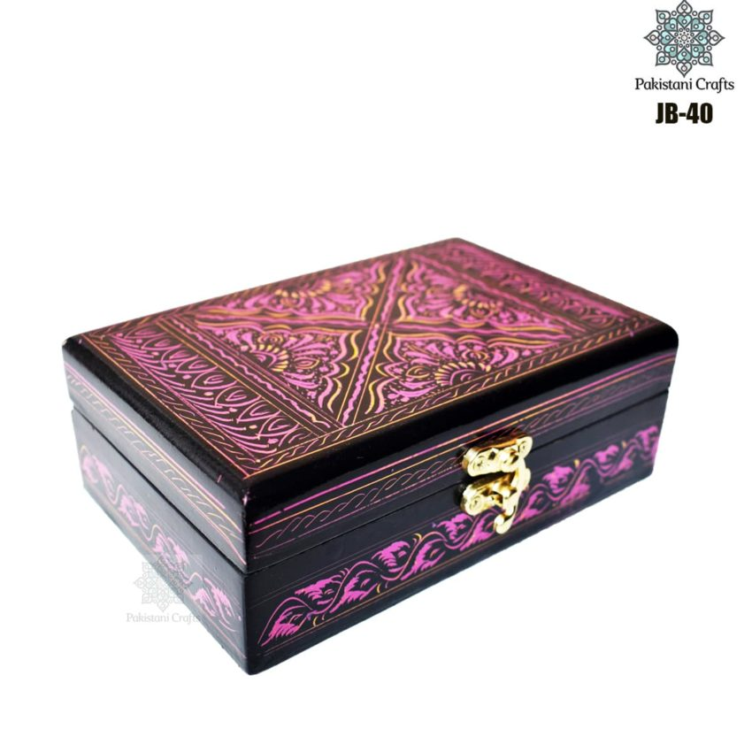 Handcrafted Jewelry Box Rectangular JB-40