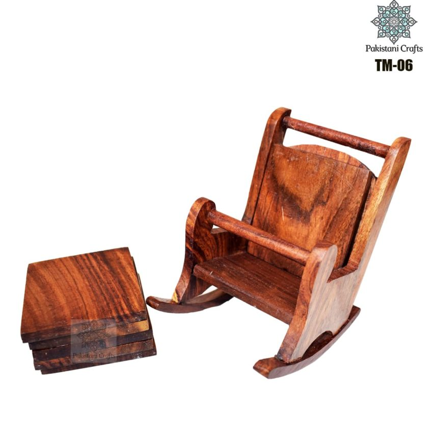 Wooden Tea Mat Set with Hand Art Work TM-06