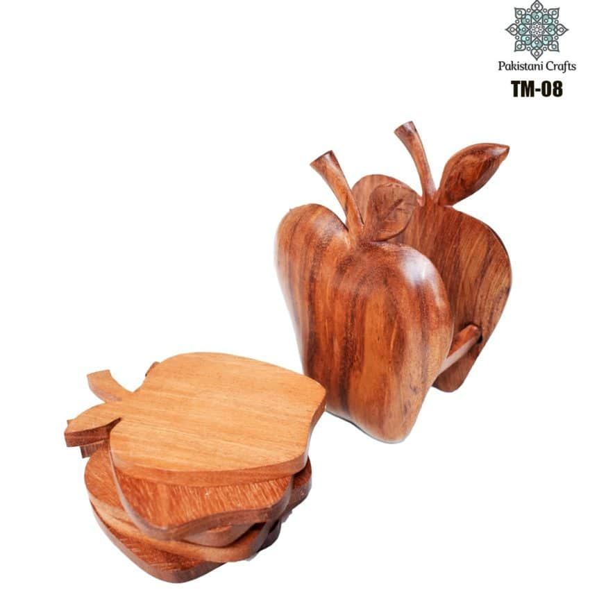 Wooden Tea Mat Set with Hand Art Work TM-08