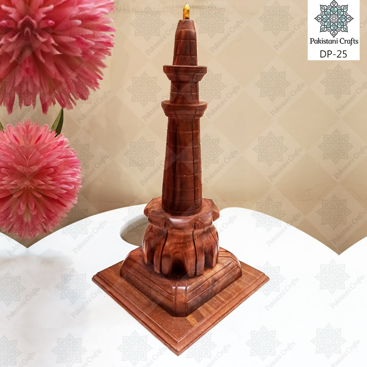 Wooden Minar e Pakistan Decoration Piece