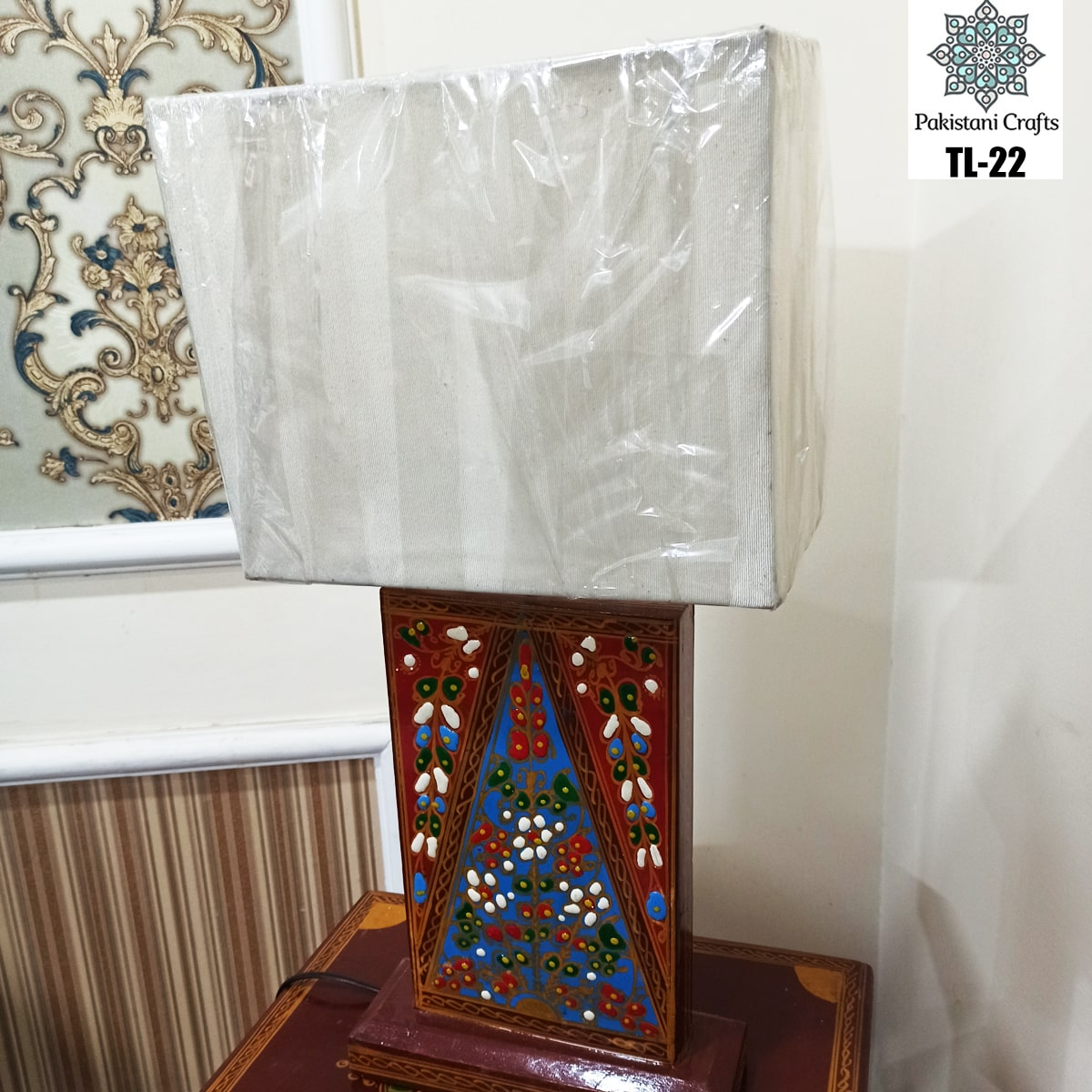 Side Table Wooden Lamp For Bedroom