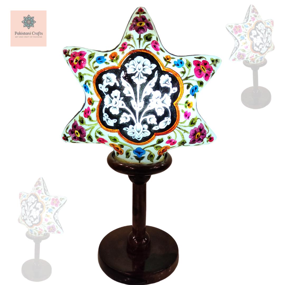 Side Table Lamp of Camel Skin