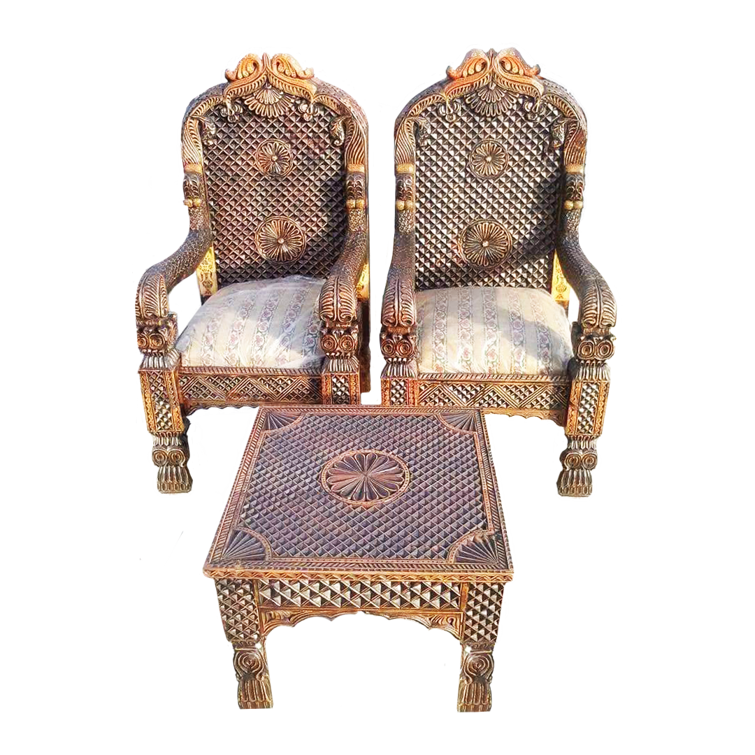 Bedroom Chair Set with Tble