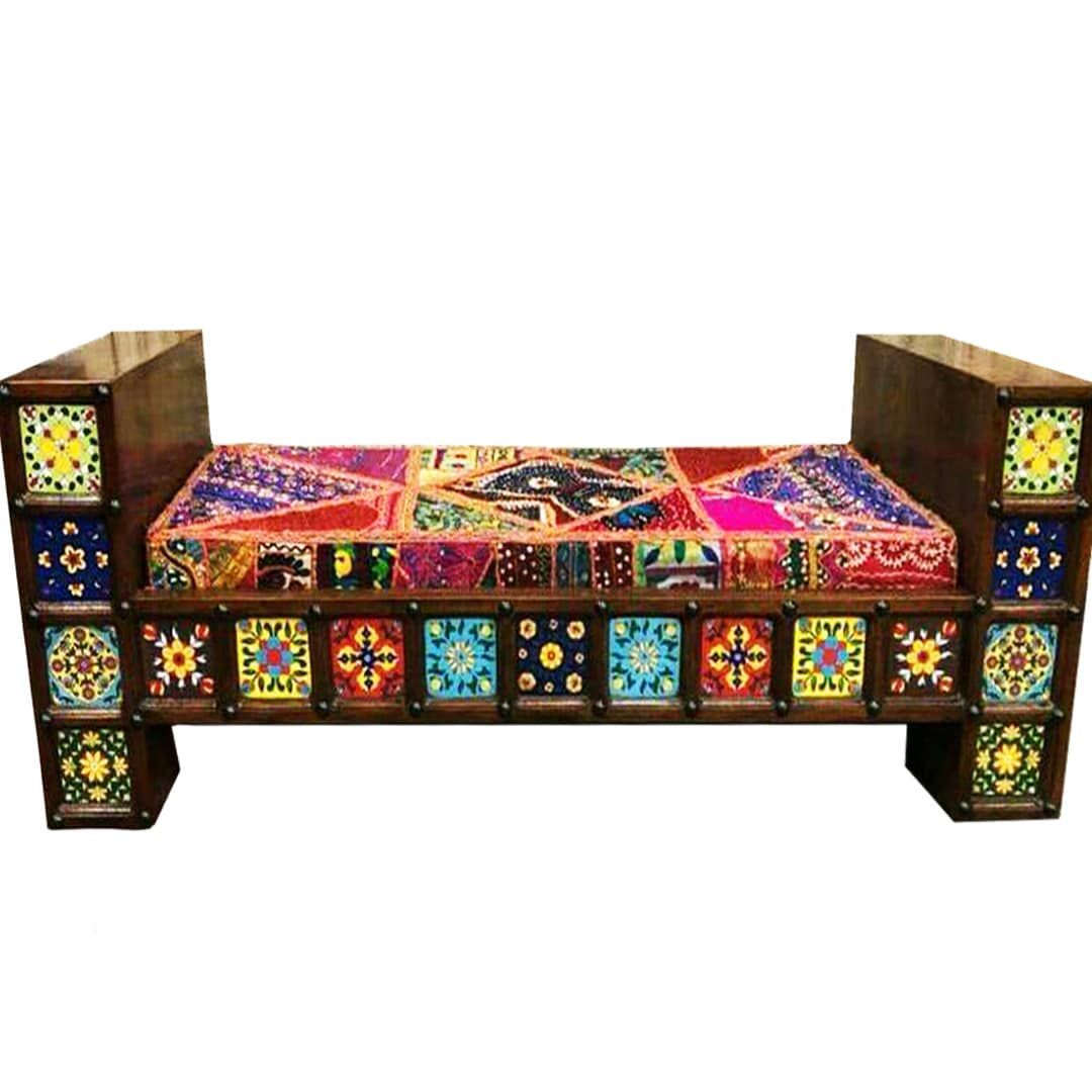 Handcrafted Three Seater Dewan