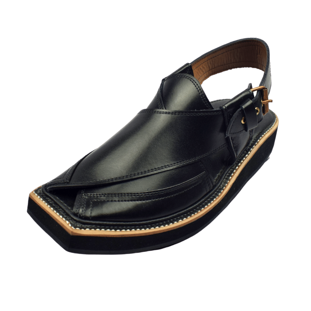 Most Luxrious Original Kaptaan Chappal Black