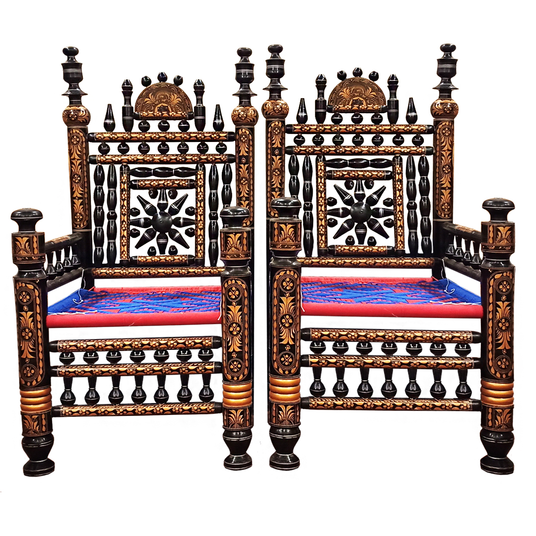Drawing Room Chair Set with Table Original Punjabi Cultural