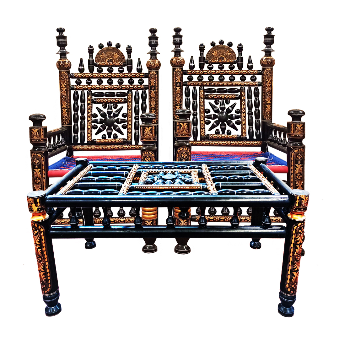 Drawing Room Chair With Table Set Original Punjabi Cultural