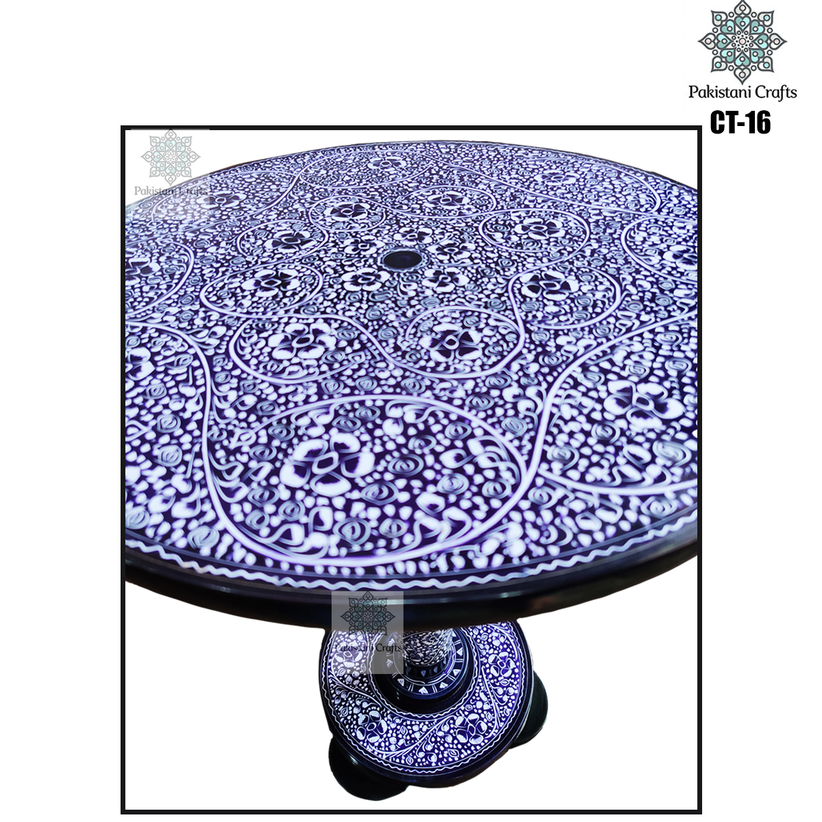Hand Made Blue Pottery Coffee Table