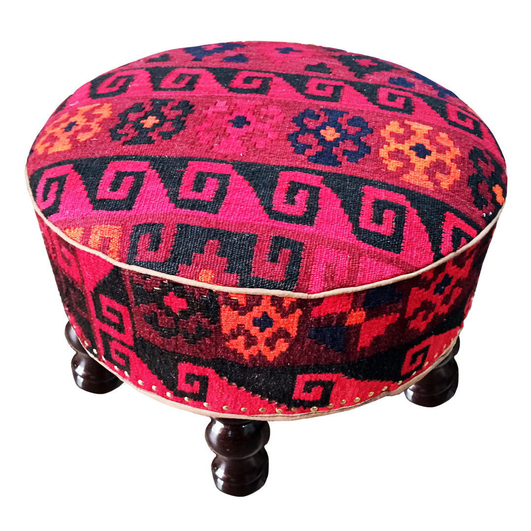 Ottoman with kilim fitting For Home and Office