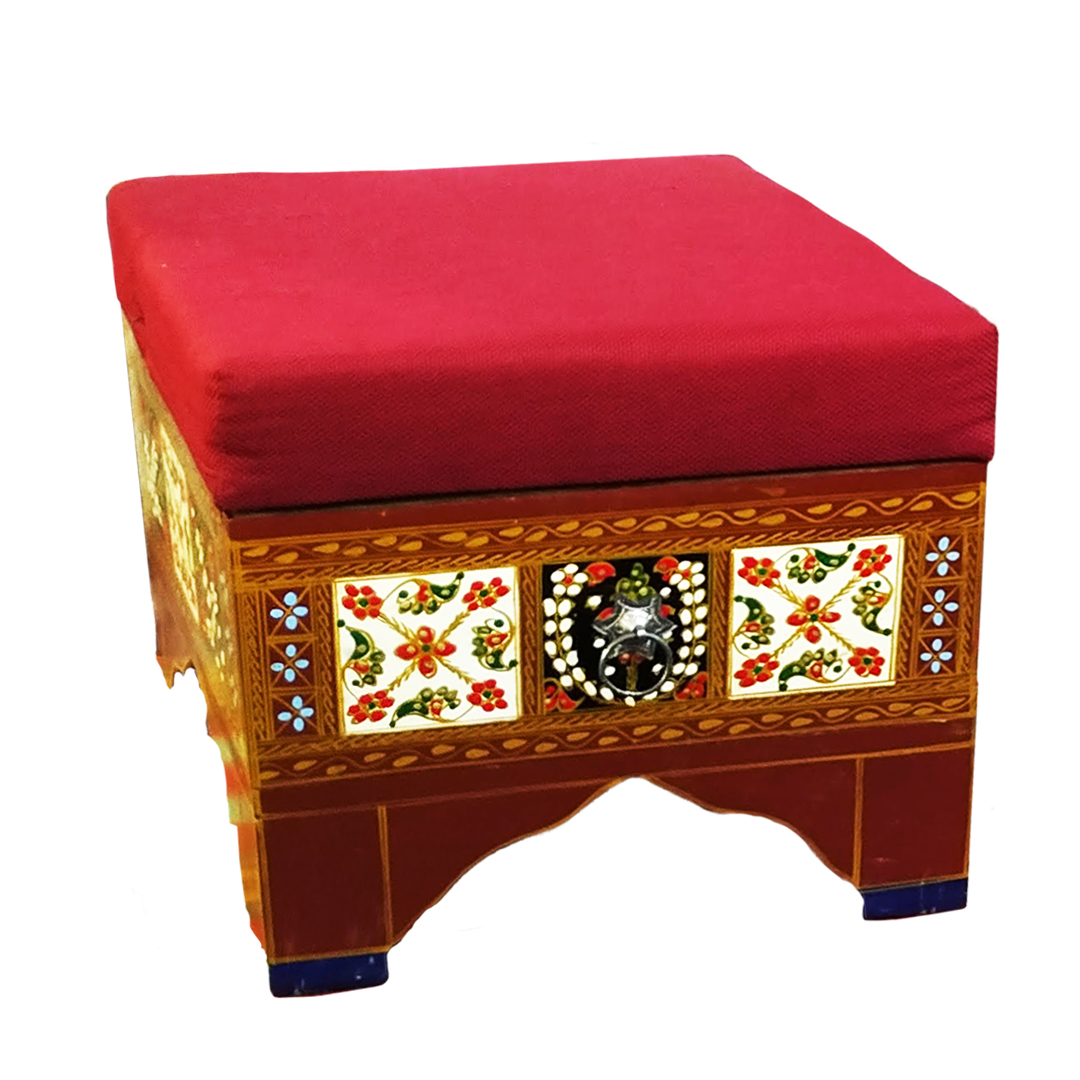 Ottoman with kilim fitting For Home