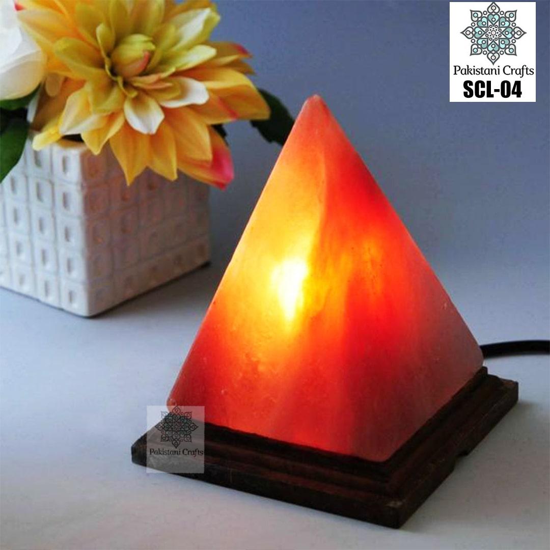 Himalayan Salt Crafted Triabgle Lamp SCL-04