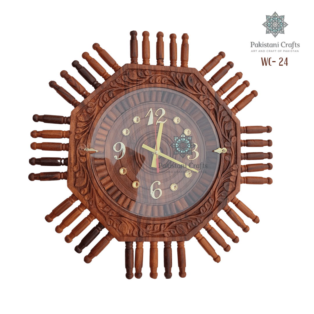 Wooden Wall Clock Traditional Style