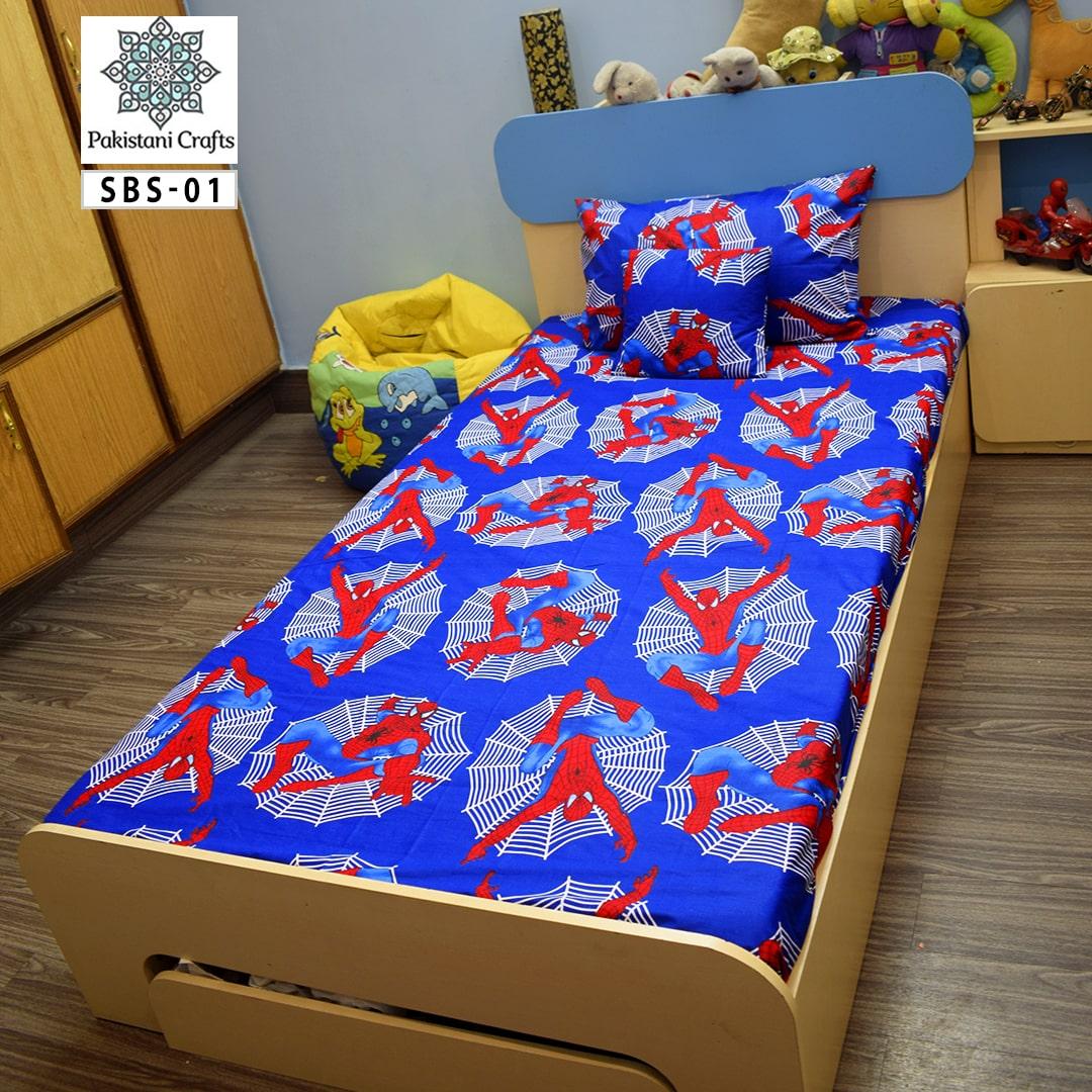 Printed Single Bed Sheet Kids