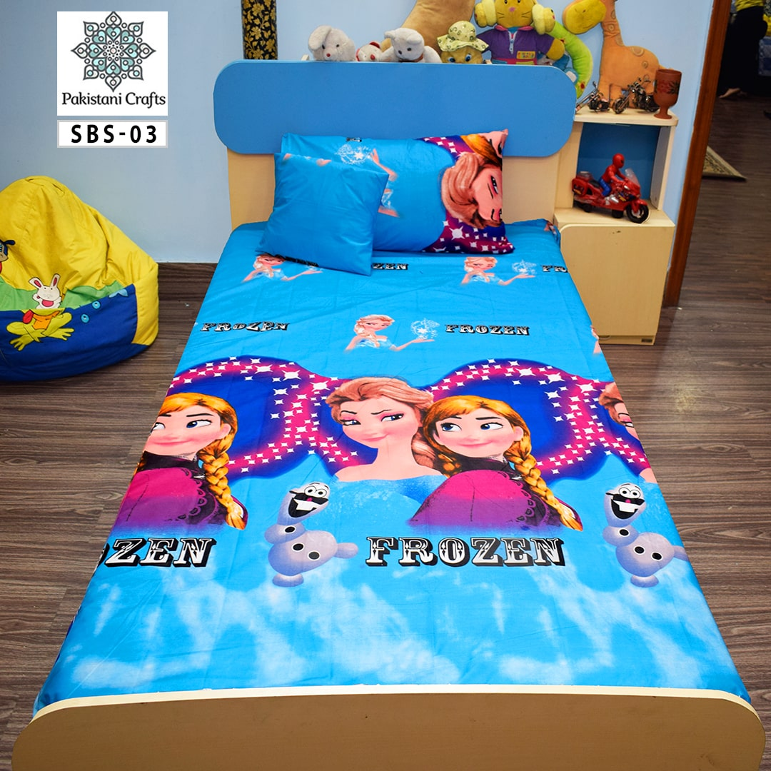 Barbie Doll Printed Single Bed Sheet Kids Bedding
